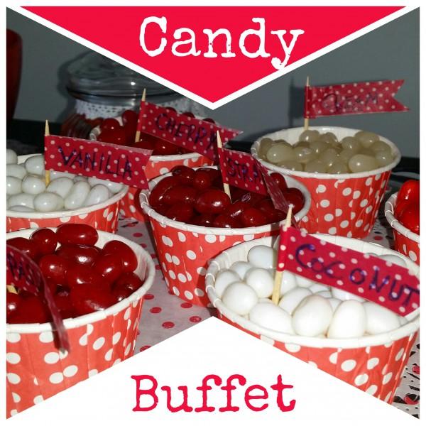 Candy Bar rot-weiß