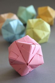 DIY – Origami Ball Sonobe Style in Pastell