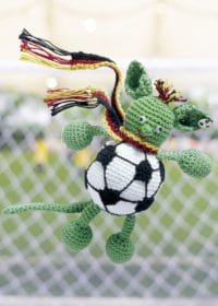 Fußballmaskottchen TORsten