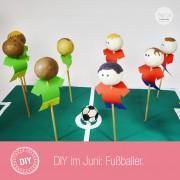 DIY Fußballer Cake Pop