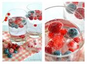Beeren-Wasser mit Früchte Eiswürfel