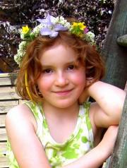 Heute mal mit Blumen im Haar ...