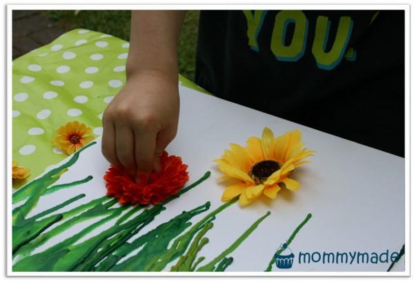 Melted Crayon Blumenwiese Handmade Kultur