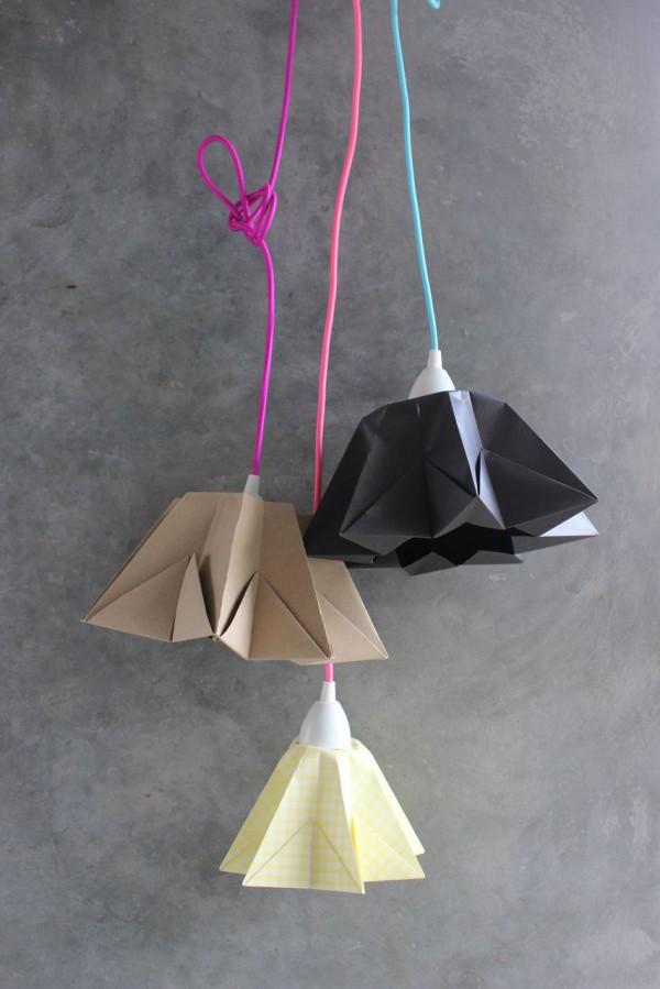 DIY – Origami Sternenhängerlampe