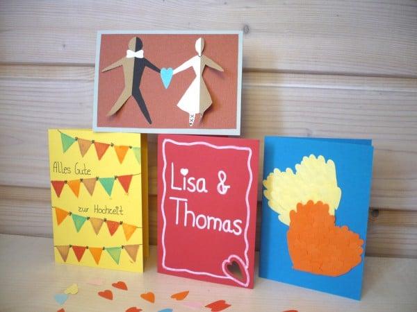 Hochzeitskarten selber basteln