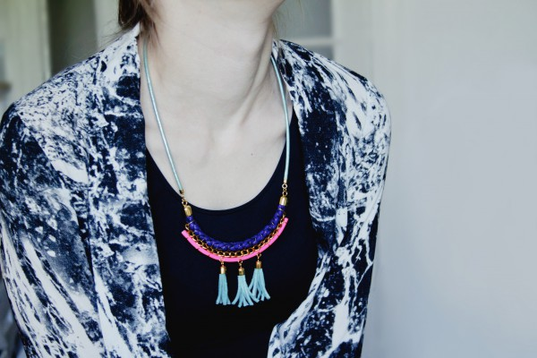 Leder Statement Kette