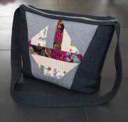 Idee für eine gequiltete Jeans-Patchwork-Tasche