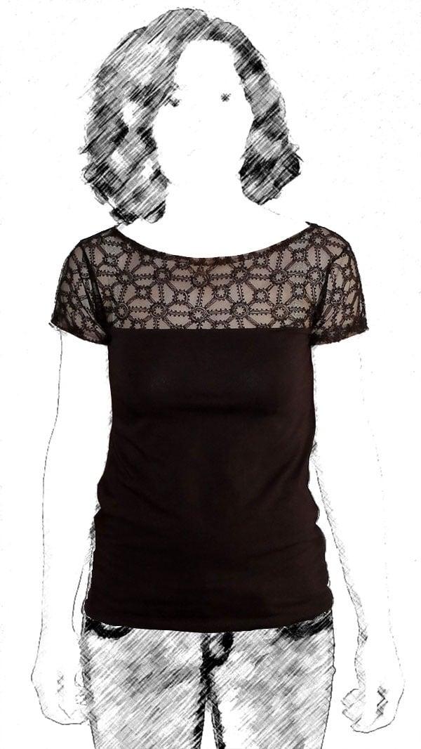 spitzen shirt handmade kultur. Black Bedroom Furniture Sets. Home Design Ideas