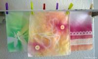 Experimente mit Textilsprühfarbe!