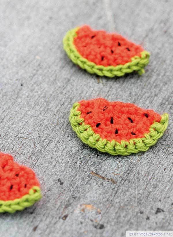 Gehäkelte Wassermelonen