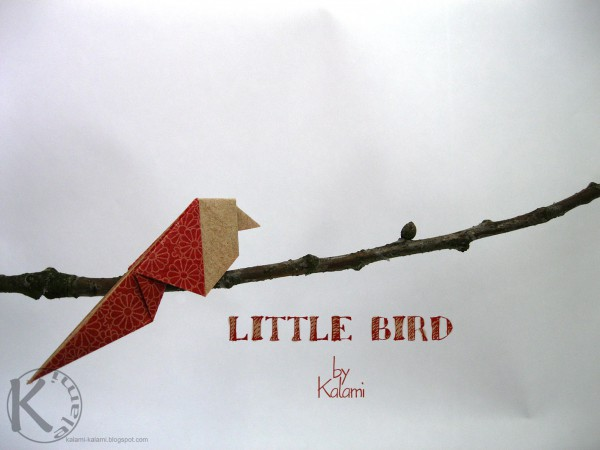 Ein kleiner Origami Vogel