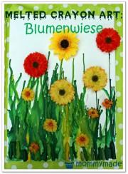 Melted Crayon Blumenwiese