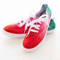 Dip-dyed Wassermelonen Sneaker