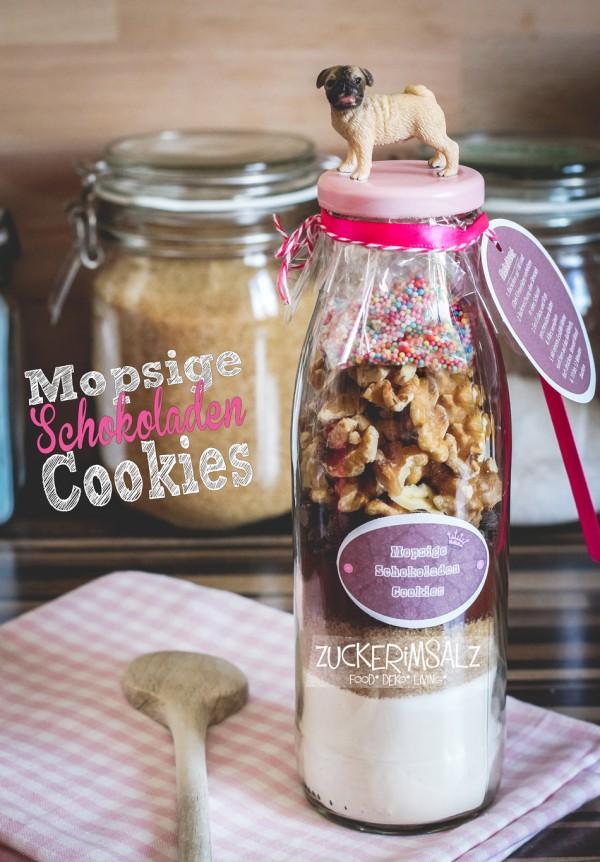 Mopsige Schokoladen Cookie Backmischung To Go