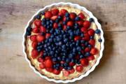 Schnelle Erdbeertarte mit Vanillepudding