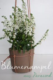 Blumenampel aus Paracord