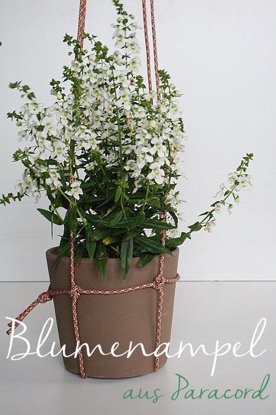 Blumenampel Aus Paracord Handmade Kultur