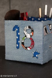 Geschenke-Box aus Jeans