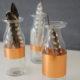 Mini-DIY: Glasflaschen und ein bisschen Kupfer