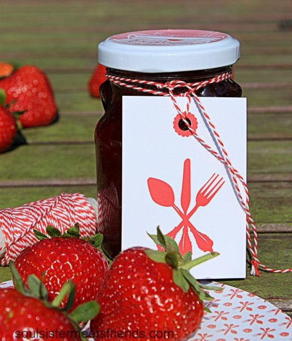 Erdbeermarmelade mit Pfeffer und Balsamico