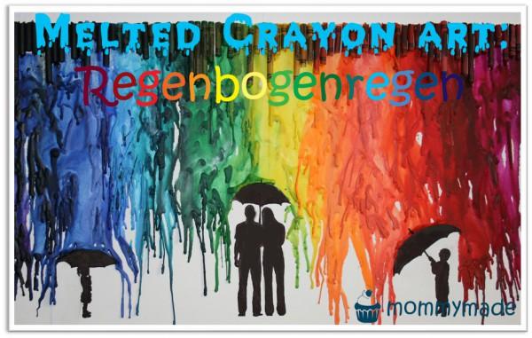 Melted Crayon Art: Regenbogenregen