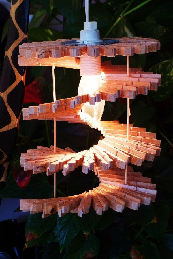 Lampen Aus Wascheklammern Handmade Kultur