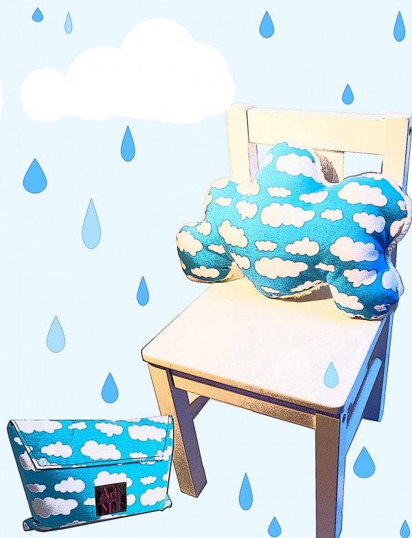 Nähen bei Regen mit Wolkenstoff
