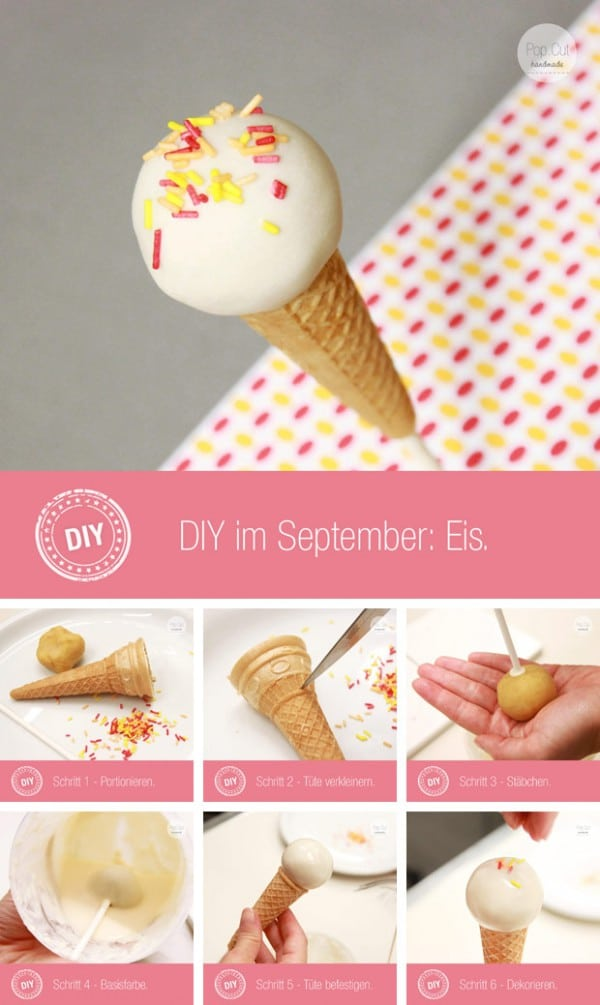 DIY Eis Cake Pop