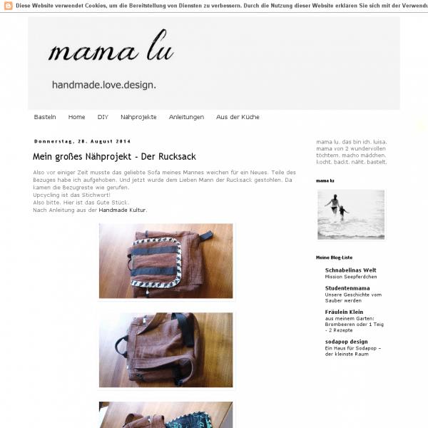 Mama Lu. Handmade. Love. Design