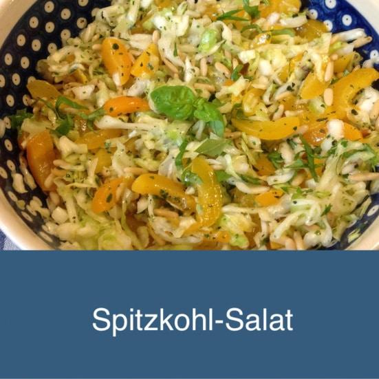 Spitzkohl- Salat mit Aprikosen