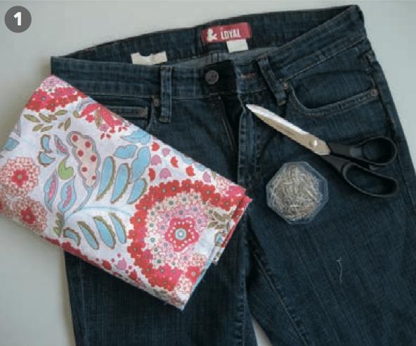Cooles Jeans Röckchen Handmade Kultur