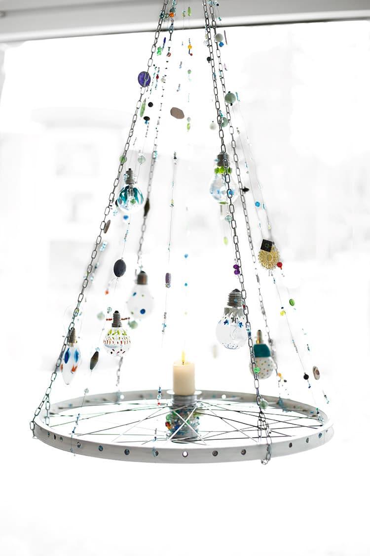 Lampe erleuchtung handmade kultur - Fahrradfelge basteln ...