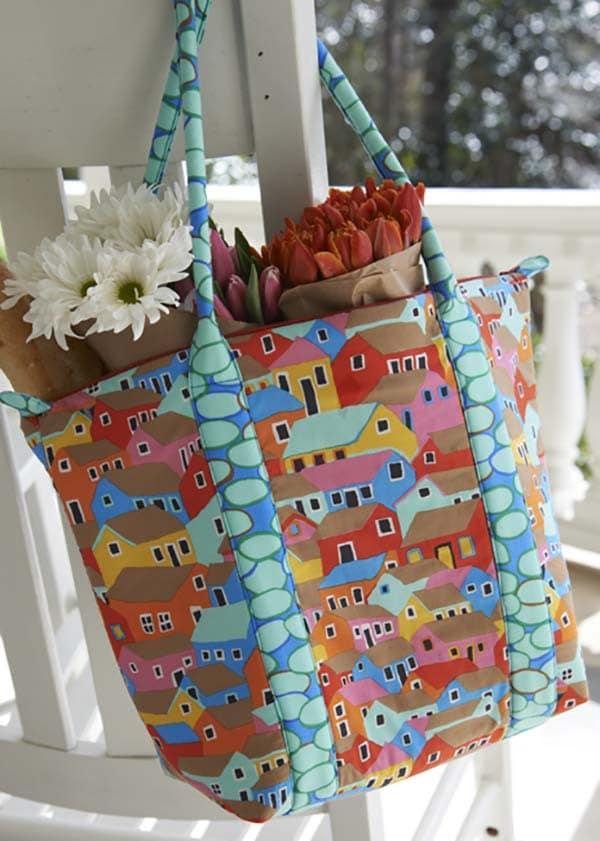 Einkaufstasche mit Reißverschluss