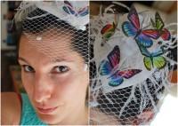 Regenbogen-Schmetterlings-Fascinator