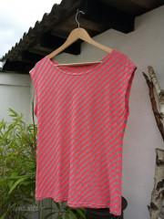 Shirt ---diagonal gestreift