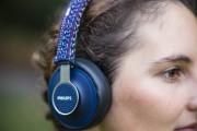 Mit Garn bestickte Kopfhörer
