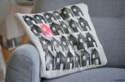 Stempelhäuschen-Kissenbezug