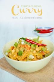 Vegetarisches Curry mit Kichererbsen