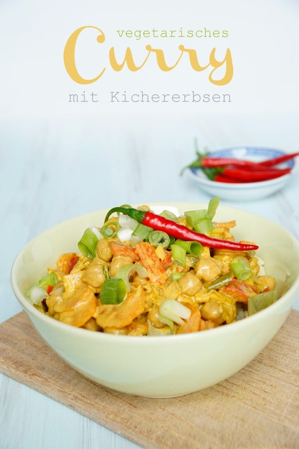 Vegetarisches Curry mit Kichererbsen