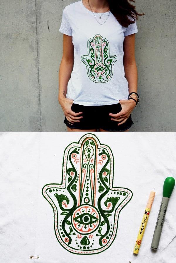 DIY Hamsa-Shirt