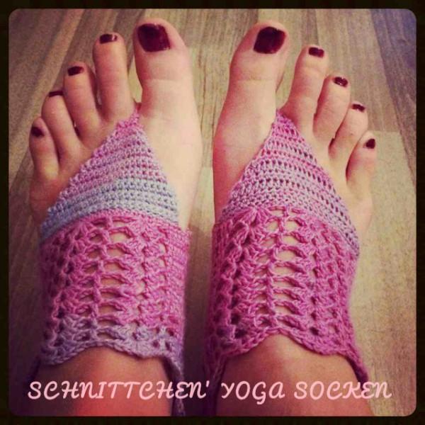 Schnittchens Yoga Socken Gehäkelt Handmade Kultur