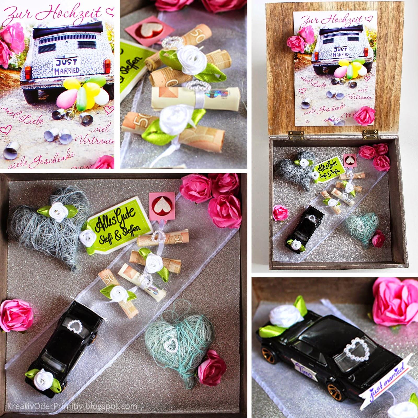 Geldgeschenk zur Hochzeit kreativ Verpackt - HANDMADE Kultur