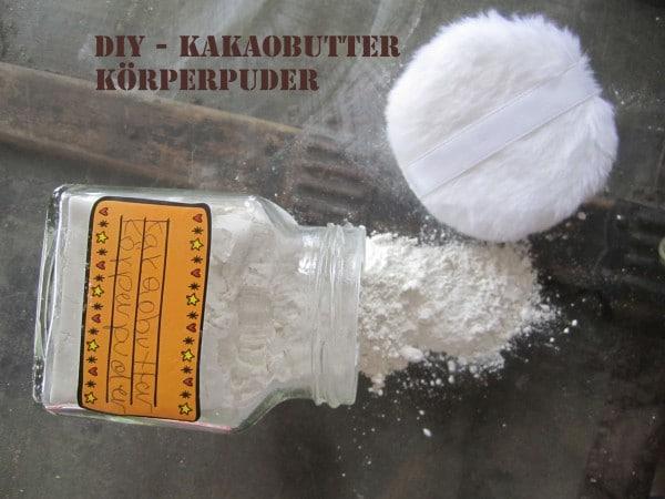 DIY-Kakaobutter-Körperpuder