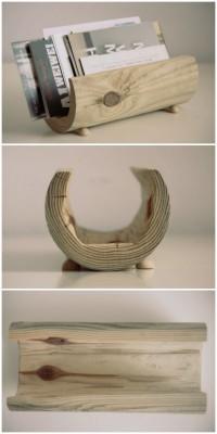 Kleine Briefaufbewahrung aus Holz