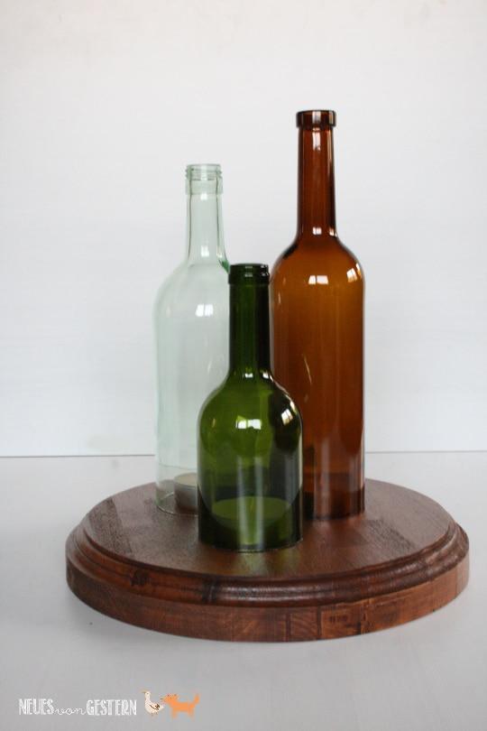 Upcycling aus alten Weinflaschen