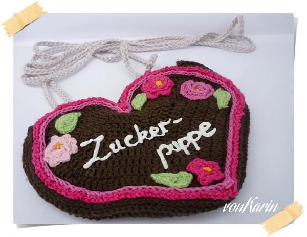 Gehäkelte Lebkuchenherz Tasche Fürs Dirndl Handmade Kultur
