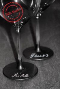 Weingläser zum Beschriften