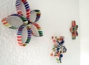 Wanddekoration aus Klopapierrollen