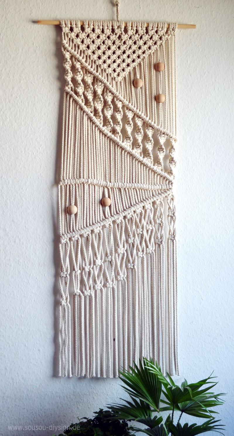 Diy makrame wandbeh nge handmade kultur - Makramee wandbehang ...