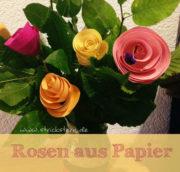 Strauß aus Papierrosen